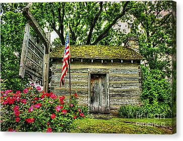 Old School House Canvas Print by Darren Fisher