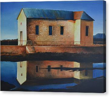 Old School House Canvas Print by Martin Schmidt