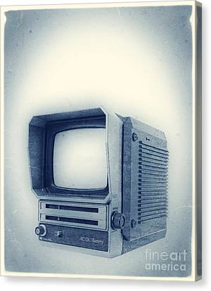 Old School Television Canvas Print by Edward Fielding