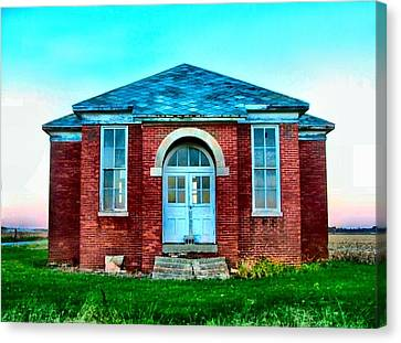 Old Schoolhouse Canvas Print by Julie Dant