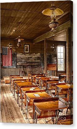 Old Schoolroom Canvas Print by Inge Johnsson