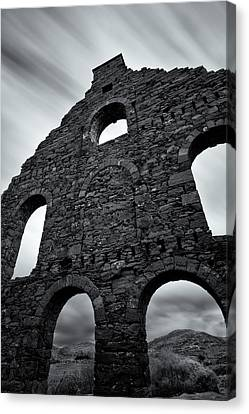 Old Slate Mill Canvas Print by Dave Bowman