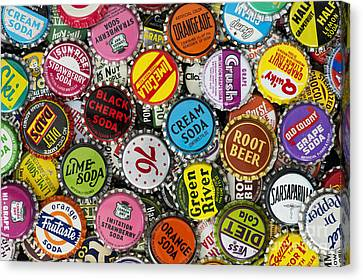 Old Soda Caps  Canvas Print by Tim Gainey
