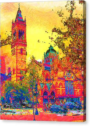 Old South Church Canvas Print by Anthony Caruso