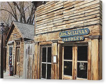 Old Storefronts Canvas Print by Mark Eisenbeil