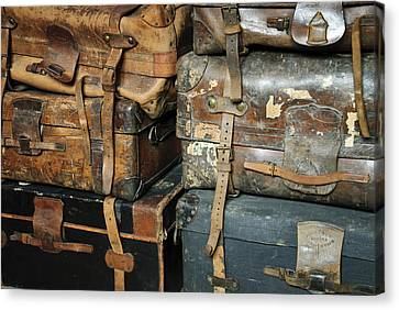 Old Suitcases Canvas Print by Chevy Fleet