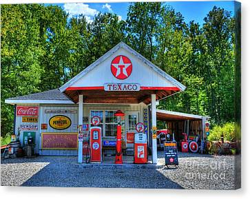 Old Texaco Station Canvas Print by Mel Steinhauer