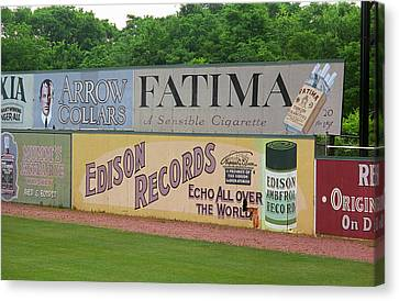 Old Time Baseball Field Canvas Print by Frank Romeo