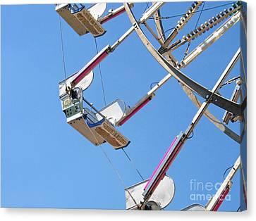 Old Time Ferris Wheel Canvas Print by Ann Horn