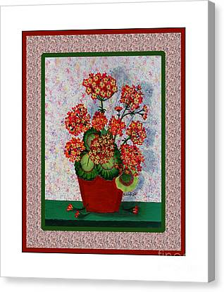 Old Time Geraniums Canvas Print by Barbara Griffin