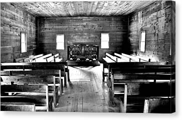 Old Time Religion -- Cades Cove Primitive Baptist Church Canvas Print by Stephen Stookey