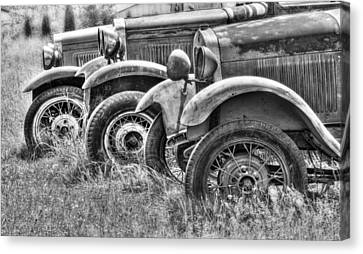 Old Timers Bw Canvas Print by Naman Imagery