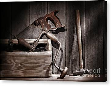 Old Tools Canvas Print by Olivier Le Queinec