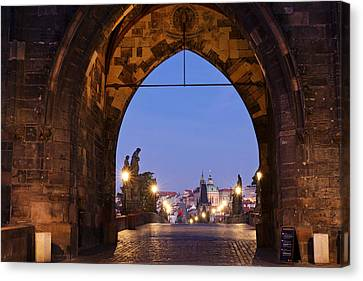Old Town Bridge Tower, Prague, Czech Canvas Print by Panoramic Images