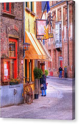 Old Town Bruges Belgium Canvas Print by Juli Scalzi