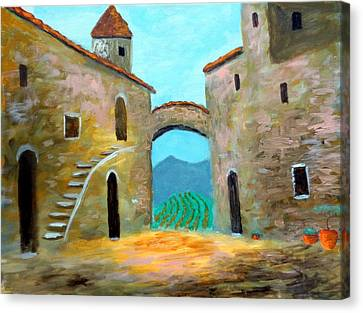 Old Town Of Tuscany Canvas Print by Larry Cirigliano