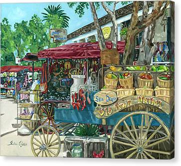 Old Town San Diego Market Canvas Print by Shalece Elynne