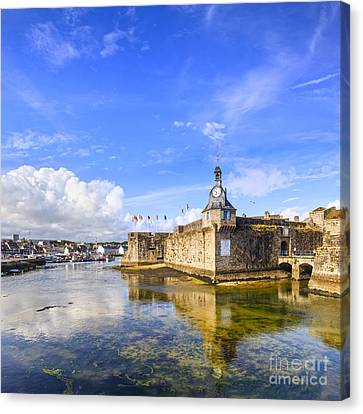 Old Town Walls Concarneau Brittany Canvas Print by Colin and Linda McKie