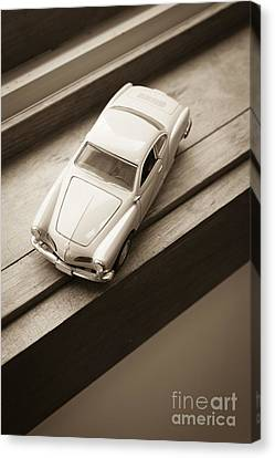 Old Toy Car On The Window Sill Canvas Print by Edward Fielding