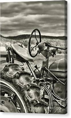 Old Tractor Canvas Print by HD Connelly