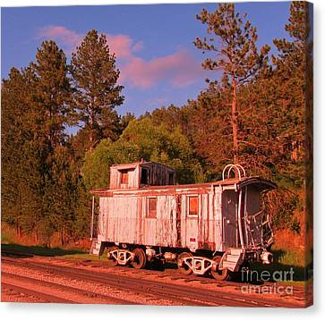 Old Train Caboose Canvas Print by John Malone