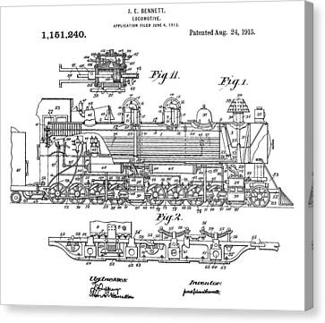 Old Train Patent Canvas Print by Dan Sproul