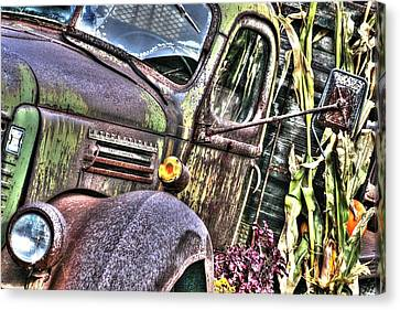Old Truck Autumn Canvas Print by Michael Allen