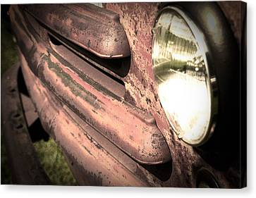 Old Truck Canvas Print by Heather Allen