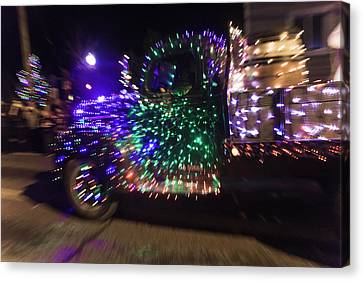 Old Truck With Christmas Lights Canvas Print by Garry Gay