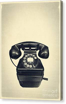 Old Vintage Telephone Canvas Print by Edward Fielding