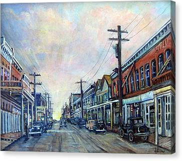 Old Virginia City Canvas Print by Donna Tucker