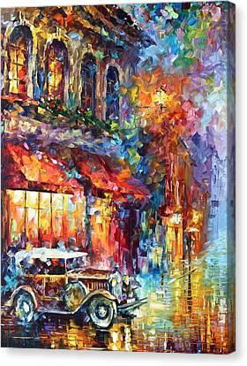 Old Vitebsk Part 1 - Left Canvas Print by Leonid Afremov