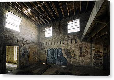 Old Warehouse Interior Canvas Print by Scott Norris