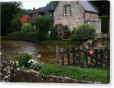 Old Water Mill Canvas Print by Aidan Moran