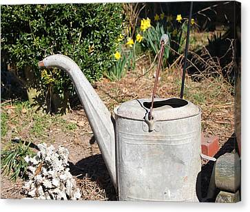 Old Watering Can Canvas Print by Carolyn Ricks