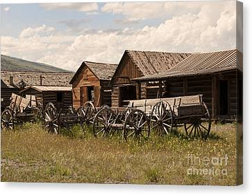 Old West Wyoming  Canvas Print by Juli Scalzi