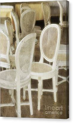 Old White Chairs Canvas Print by Carlos Caetano