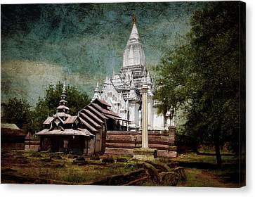 Old Whitewashed Lemyethna Temple Canvas Print by RicardMN Photography