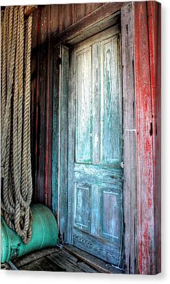 Old Wooden Door Canvas Print by Lynn Jordan