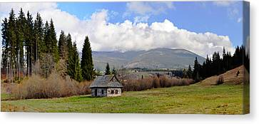 Old Wooden Home On A Mountain, Slovakia Canvas Print by Panoramic Images
