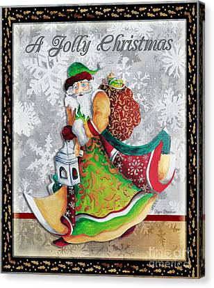 Old World Santa Clause Christmas Art Original Painting By Megan Duncanson Canvas Print by Megan Duncanson