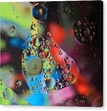 Olej I Woda 4 Canvas Print by Joe Kozlowski