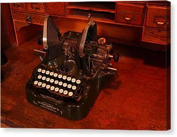 Oliver Typewriter Canvas Print by Jeff Swan