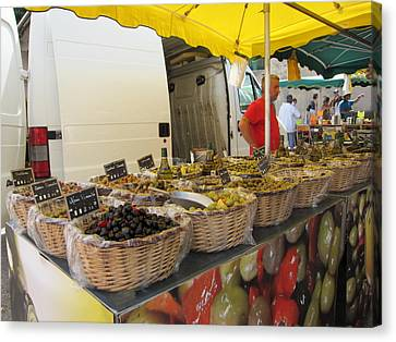 Olives For Sale Canvas Print by Pema Hou