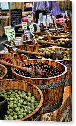 Olives Canvas Print by Heather Applegate