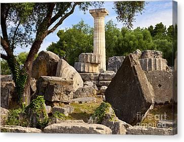 Olympus Ruins Canvas Print by Brian Jannsen