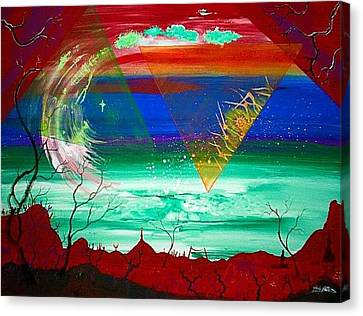 Omega Wave  Rendition Canvas Print by Jody Poehl