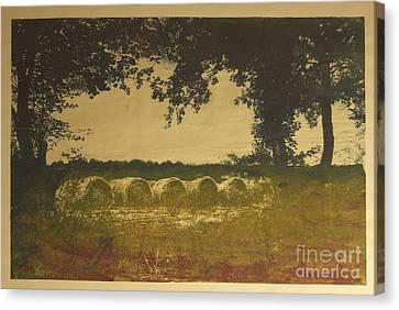 On A Farm In France Canvas Print by Deborah Talbot - Kostisin