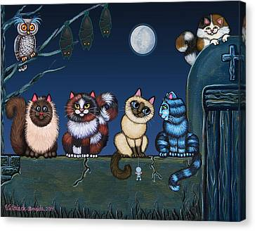 On An Adobe Wall Canvas Print by Victoria De Almeida