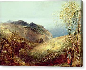 On Chalden Down, Dorset, C.1834-35 Canvas Print by Samuel Palmer